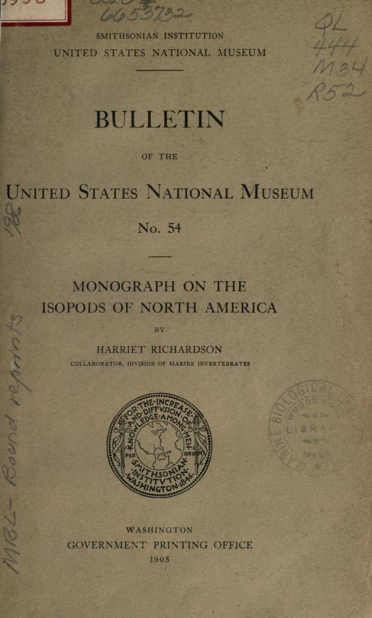 Monograph on the Isopods of North America