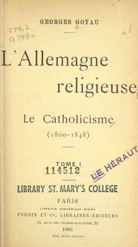 Download L' Allemagne religieuse