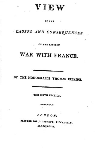 Download A view of the causes and consequences of the present war with France.