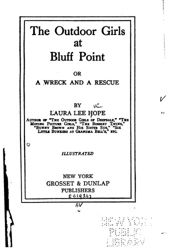 The Outdoor Girls at Bluff Point: Or, A Wreck and a Rescue