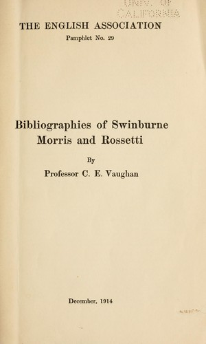 Download Bibliographies of Swinburne, Morris and Rossetti
