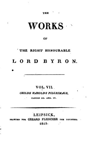 The works of … lord Byron: With His Letters and Journals, and His Life