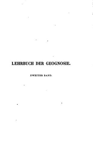 Lehrbuch der Geognosie