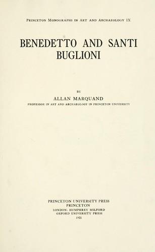 Download Benedetto and Santi Buglioni