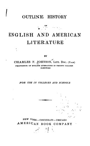 Download Outline history of English and American literature.