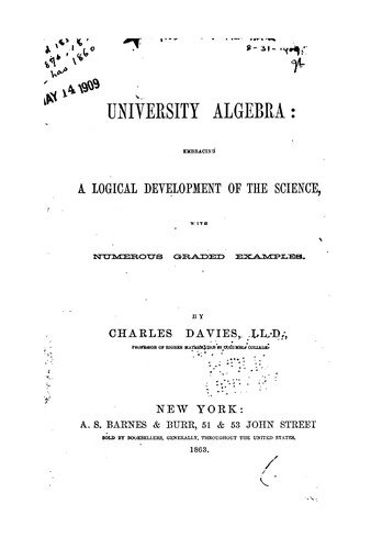 Download University algebra