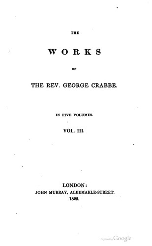 The works of the Rev. George Crabbe…