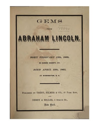 Gems from Abraham Lincoln …