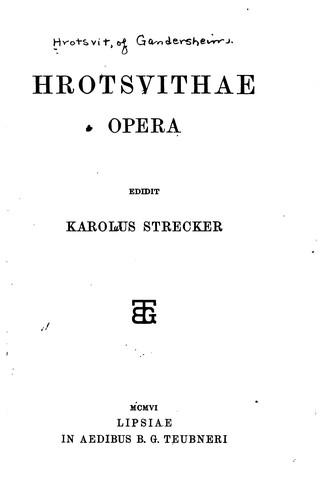 Hrotsvithae Opera