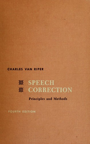 Download Speech correction; principles and methods.