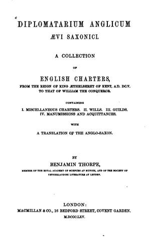 Download Diplomatarium anglicum aevi saxonici