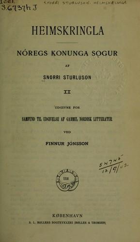 Heimskringla, Nóregs Konunga Sögur