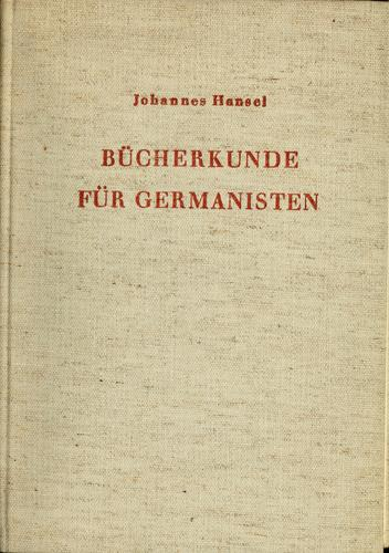 Download Bücherkunde für Germanisten.