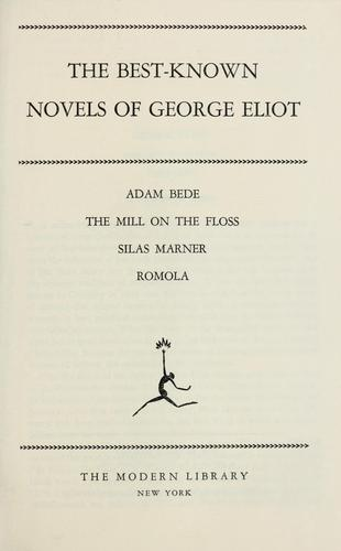 The best-known novels of George Eliot