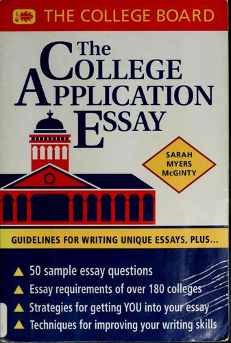 Download The college application essay