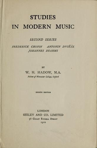 Studies in modern music …