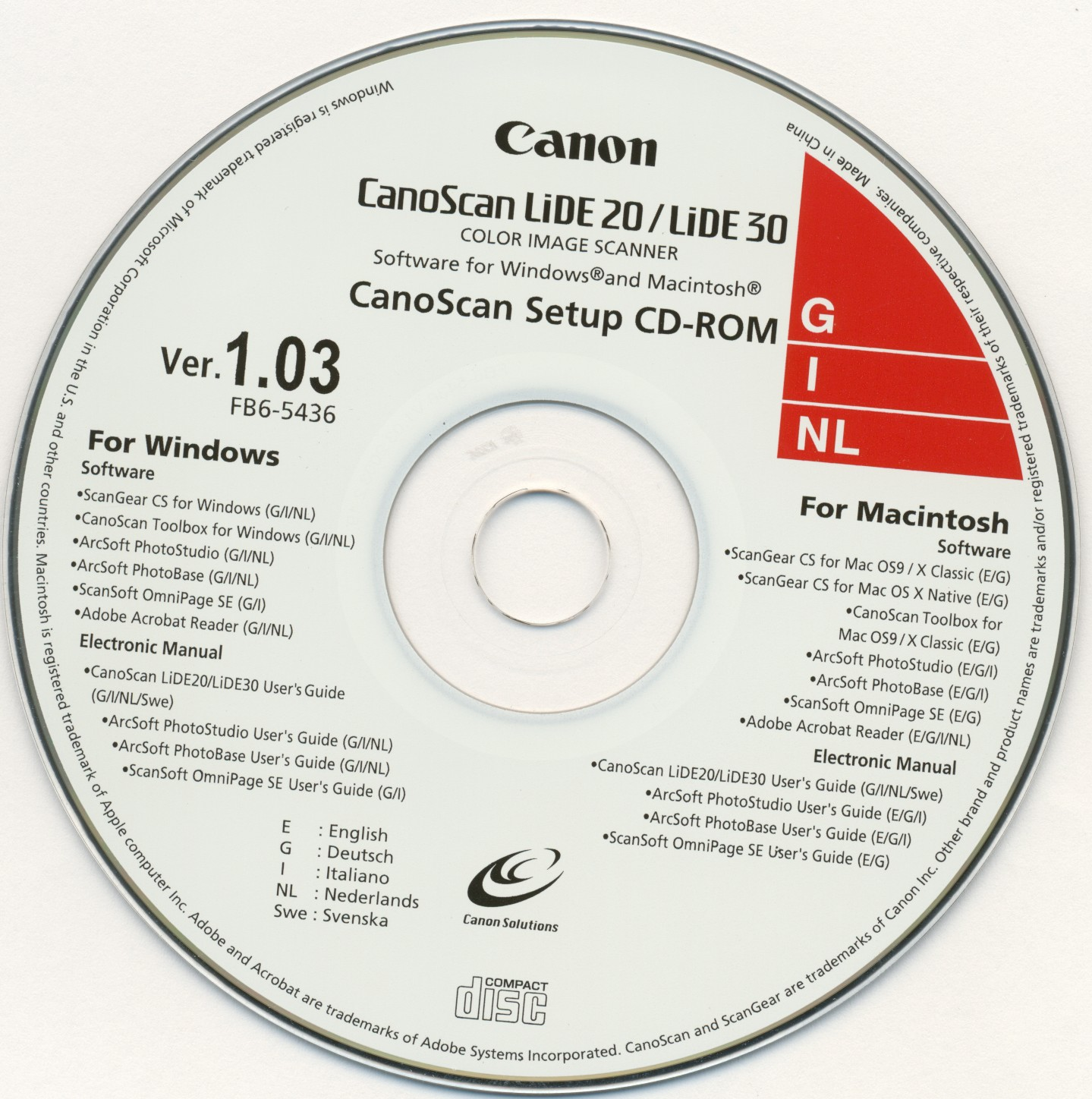 Canon Canoscan Lide 20 Lide 30 Ver 1 03 Canon Free Download Borrow And Streaming Internet Archive