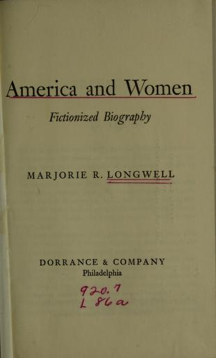 Cover of: America and women | Marjorie R. Longwell
