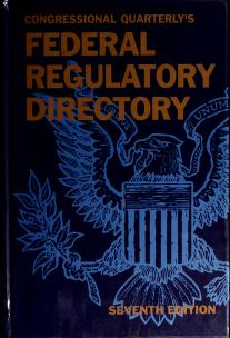 Cover of: Federal Regulatory Directory | Jon Preimesberger