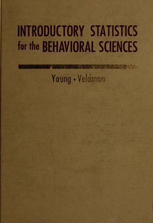 Cover of: Introductory statistics for the behavioral sciences | Robert K. Young