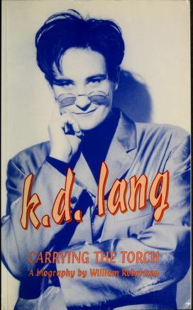 Cover of: k.d. lang [sic]   Robertson, William B.