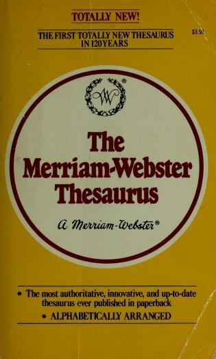 Cover of: M Webstr Thsrus | Eve Merriam
