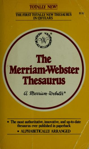 M Webstr Thsrus by Eve Merriam