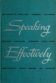 Cover of: Speaking effectively | Lee Roy Norvelle