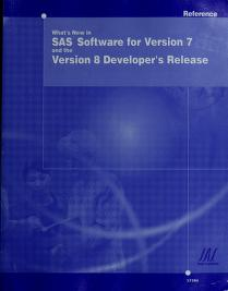 Cover of: What's New in SAS Software for Version 8 | SAS Institute