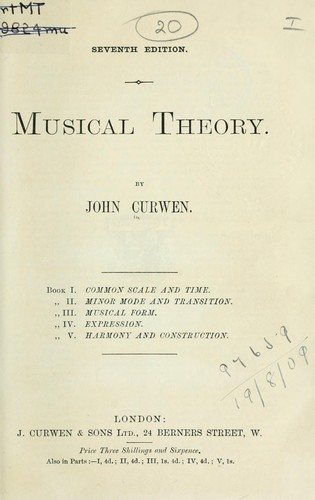 Musical theory by Curwen, John