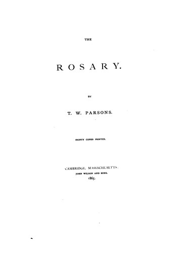 The rosary by Thomas William Parsons