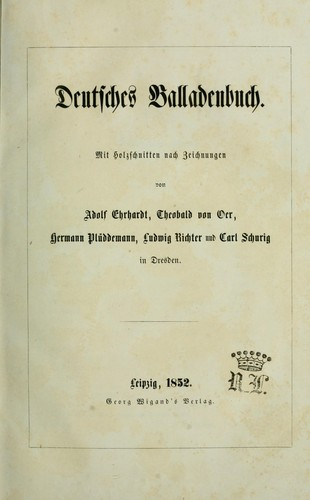 Deutsches Balladenbuch by Adolf Ehrhardt