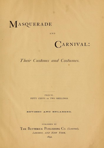 Masquerade and carnival by [Wandle, Jennie Taylor] Mrs.
