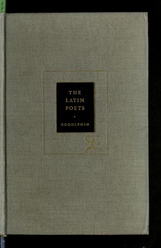 The Latin poets. by Francis Richard Borroum Godolphin