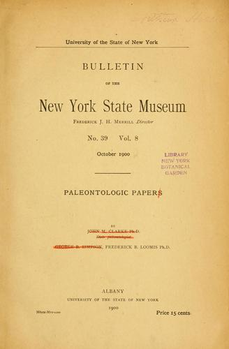 Siluric fungi from western New York by Frederic Brewster Loomis
