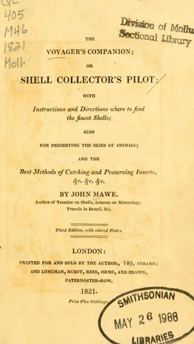 The voyager's companion, or shell collector's pilot by John Mawe